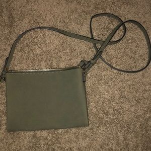 Olive Green cross body purse